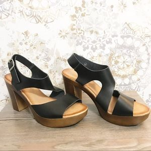 Eric Michael block heel sandals. size 39. EUC